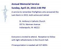 16.0424 Annual Memorial Service St Anthony's Catholic Church