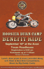 Hendricks County Benefit Ride Sep 10 2016